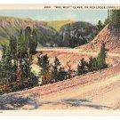 MT Mae West Curve Red Lodge Cooke City Highway Vtg Postcard Montana
