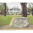 MA Lexington Jonathan Harrington House Line Minute Men Vtg Phostint Postcard