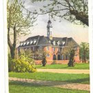 VA Williamsburg First Colonial Capitol Vtg K S Tanner Postcard 1943