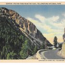 WY Yellowstone Park Sylvan Pass from the East Vtg Haynes Linen Postcard Wyoming