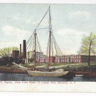 Millville NY Sailboat JN Martin Cotton Mill View From River ca 1905 Postcard UDB