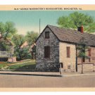 VA Winchester George Washington's Headquarters Vtg Llinen Postcard