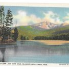 WY Yellowstone Park Sylvan Lake Cody Road Vtg Haynes Linen Postcard Wyoming