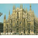 TWA Milan Cathedral Piazza del Duomo In Flight with TWA Advertising Postcard