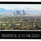 Los Angeles Skyline San Gabriel Mountains Postcard 4X6 CA