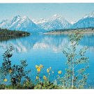 WY Jackson Lake Teton Mountains Wyoming Vintage Postcard