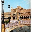 Spain Sevilla Plaza de Espana Spanish Square Vintage Postcard 4X6