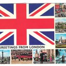 UK Great Britain Greetings from London Multi View Postcard 4X6
