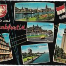Germany Frankfurt Greetings Gruss Multi View Vtg 1969 Postcard 4X6