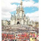 Walt Disney World Welcome Mickey Mouse Cinderellas Castle Vtg Postcard