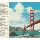 CA San Francisco Golden Gate Bridge w Legend Vtg Postcard