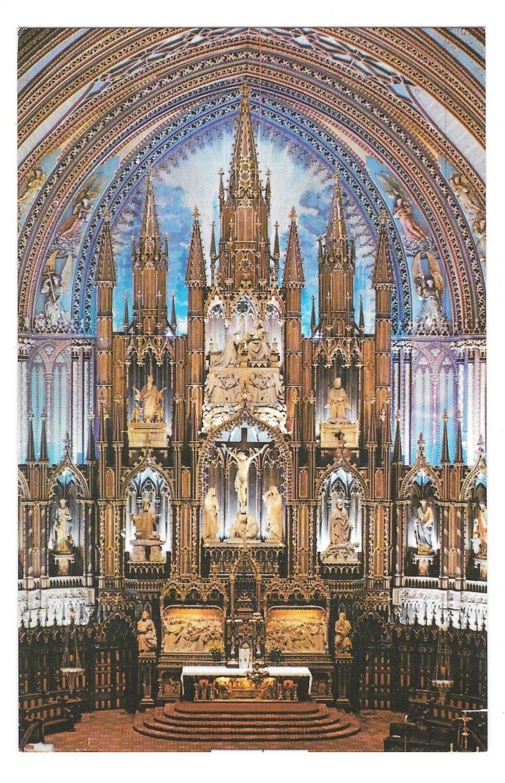 Canada Montreal Notre Dame Cathedral Main Altar Vtg Postcard