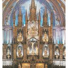 Canada Montreal Notre Dame Cathedral Main Altar Vtg Postcard