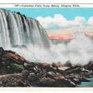 Niagara Falls NY Canadian Falls from Below Vtg Postcard