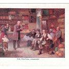 Painting The Political Argument Vintage Art Postcard