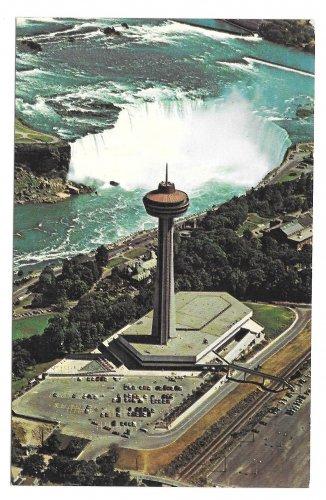 Canada Niagara Falls Skylon Park Tower Pavilion Vtg Postcard