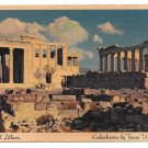 TWA Trans World Airlines Acropolis Athens Greece Advertising Postcard