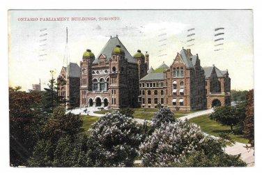 Canada Toronto Parliament Buildings Vtg MacFarlane Postcard 1907