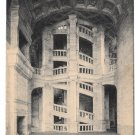 France Chambord Chateau Grand Escalier Stairway Postcard