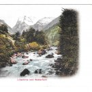 Switzerland Alps Lutschine und Wetterhorn Vintage UDB Postcard