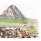 Switzerland Alps Glarus mit Glarnisch Vintage UDB Postcard