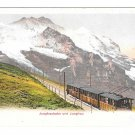 Switzerland Alps Jungfraubahn Jungfrau Train Vintage UDB Postcard