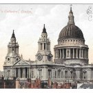 UK St Paul's Cathedral London Vintage Postcard England