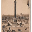 UK London Trafalgar Square Nelsons Column Vintage Heskitt Postcard
