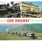 NH White Mountain Cog Railway Multiview Vintage Postcard