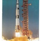 Apollo Saturn V Launch Lift off NASA John F Kennedy Space Center Postcard