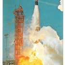 Atlas Agena Launch Lift off NASA John F Kennedy Space Center Postcard