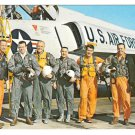 NASA Astronauts Original 7 Kennedy Space Center Florida Vtg Postcard