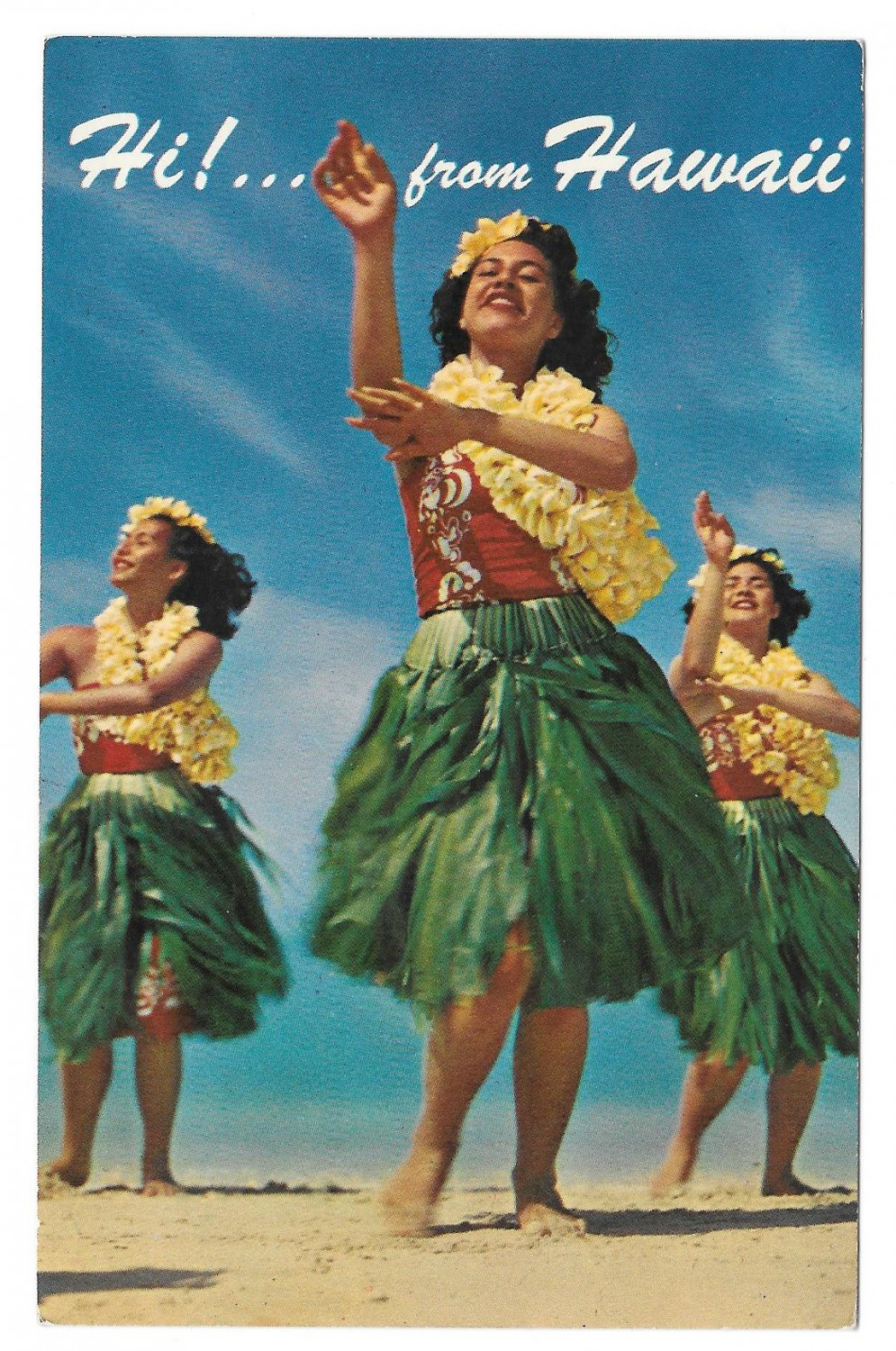 Ready Hawaiian hula girls