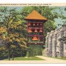Valley Forge Washington Memorial Carillon PA Vintage Postcard