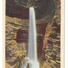 Watkins Glen NY Cavern Cascade Waterfall Vtg State Park Postcard
