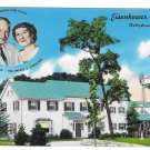 Gettysburg Eisenhower Farm President & Mamie Vintage Postcard