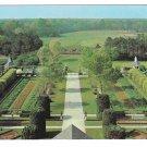 Williamsburg VA Palace Gardens Vintage Postcard