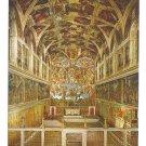 Vatican Rome Sistine Chapel Interior Cappella Sistina Postcard 4X6