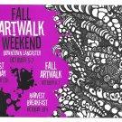Lancaster PA Fall Artwalk Weekend Advertising Card 2007 Ad Art Tamera Teets