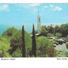 CA Wayfarers Chapel Palos Verdes Lloyd Wright Vintage Postcard