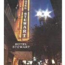 Hotel Stewart San Francisco California Geary St Night Postcard