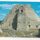 Mexico Temple of the Magician Templo del Adivino Uxmal Yucatan Postcard