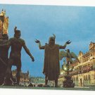 Mexico Monument Founders Tenochtitlan Statues Vintage Postcard