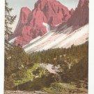 Italy Tyrol Dolomites Geislerspizen Sas Rigais Vintage Postcard