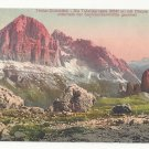 Italy Alps Tirol Dolomiten Tofanagruppe Cinque Torri Vntg Postcard