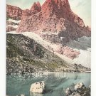 Italy Alps Tirol Dolomiten Sorapissee Punta Nera Vntg Postcard