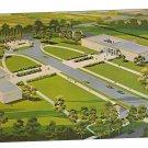 Kansas Abilene Eisenhower Center Aerial View Postcard
