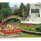 Texas San Antonio River Tour Taxi Riverwalk Boat Vintage Postcard 4X6