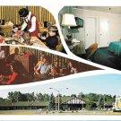 NY Albany Tom Sawyer Motor Inn Motel Vntg Postcard Multiview