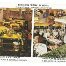 Benjamin Franklin Hotel Phila PA Kite Key Room Garden Cafe postcard